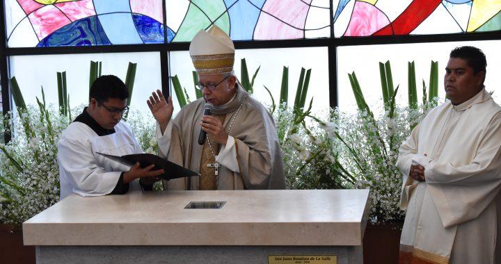 Entronización de Reliquias de San Juan Bautista de La Salle